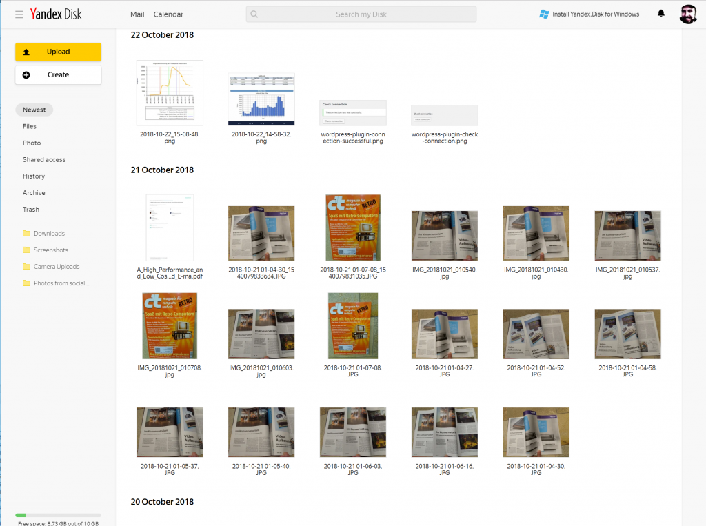 Keine Wolke aus Russland - Yandex.Disk fehlt im c't-Test der Cloud-Speicher-Dienste 4